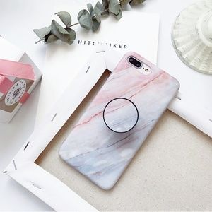 Accessories - NEW iPhone X/7/7+/8/8+ Marble case W/ Holder